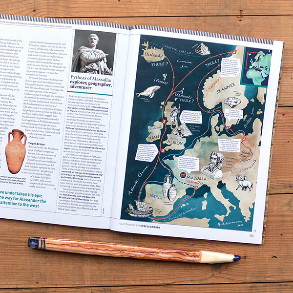 News theresa grieben my new map for bbc world histories magazine is out this time its about greek explorer pytheas mythical quest for thule in the gumiabroncs Images