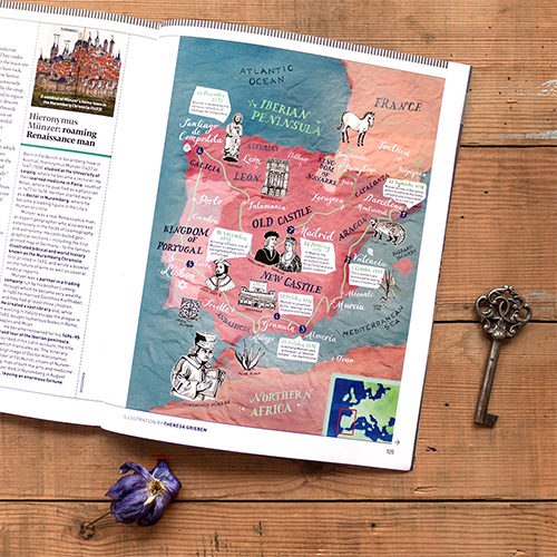 News theresa grieben my latest map of ancient spain and portugal for issue 4 of bbc world histories magazine it follows the path of german scientist and explorer hieronymus gumiabroncs Images