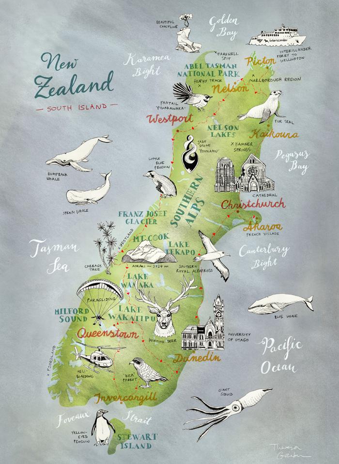 NZ Maps Theresa Grieben